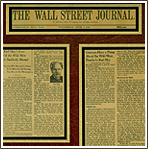 Wall Street Journal Front Page Article